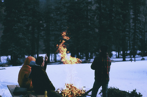 adventure, camera, camping and cold