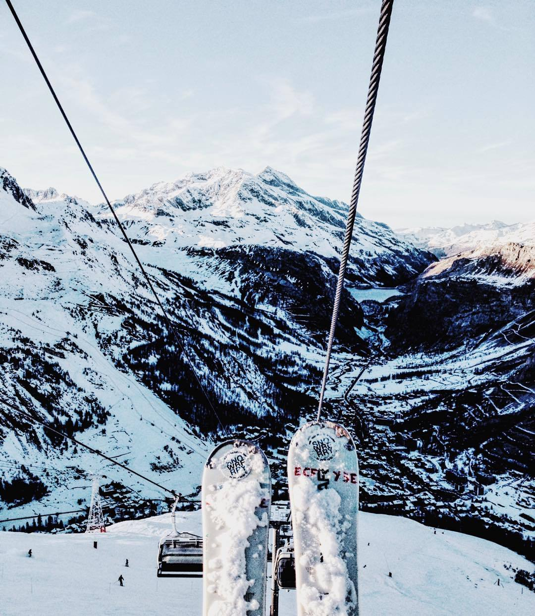 alps, january, mountain, snow, snowboard, white
