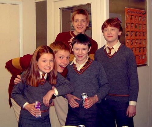 best, family, fred weasley, george weasley, ginger, ginny weasley, harry potter, movie, ron weasley, seamus finnigan, young