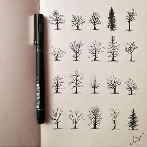 Draw Drawing Tree Trees Tumblr Image 4026803 By Lucialin On