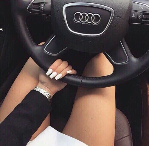 audi, beautiful, beauty, black, car, classy, dope, expensive, fashion, girl, life, lifestyle, luxe, luxury, nails, ongles, rich, voiture, white, woman
