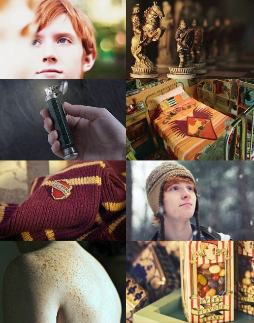 aesthetic, brave, candies, chess, fire, freckles, ginger, gryffindor, harry potter, lighter, ron weasley