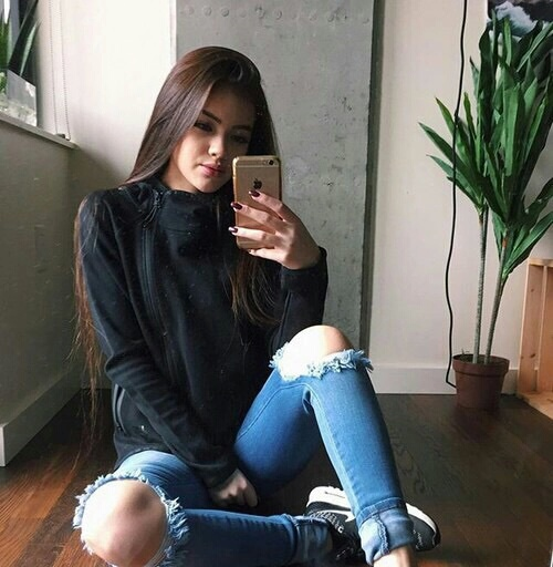 brunette, chic, dark, edge, fashion, girl, heart, home, inspo, iphone, it, jeans, look, make, mirror, nails, nike, ootd, outfit, photograph, reflection, ripped, style, stylish, swag, sweather, tumblr, up, we