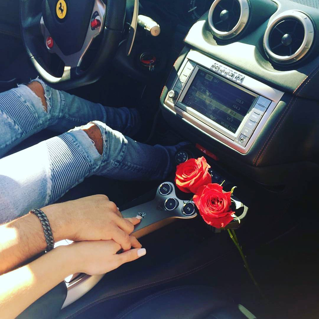 car, classy, couple, ferrari, hand in hand, hand on hand, lifestyle, love, luxury, luxury lifestyle, red roses, rose, roses, handinhand, luxurylifestyle, handonhand