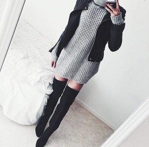 bedroom, black and grey, black jacket, chanel, chic, clothes, cool, details, dress, elegant, fancy, fashion, girl, inspiration, jacket, leather, leather jacket, love, luxury, moda, model, ootd, outfit, perfection, pretty, rich, shoes, style, swag, sweet