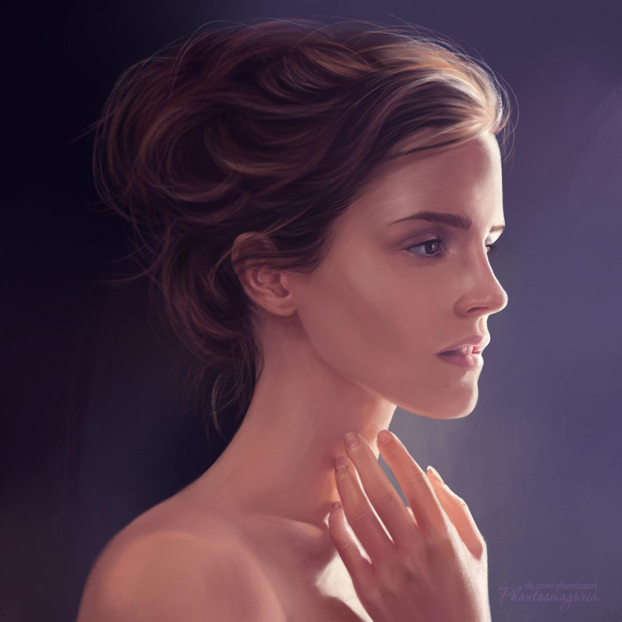 actress, amazing, art, beautiful, digital art, drawing, emma watson, painting, photography, tumblr, not my art