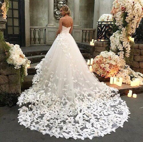 beauty, bridal gown, bride and chic