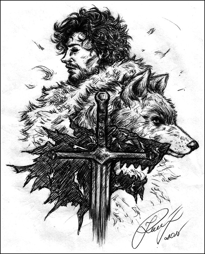 dessin, deviantart, fanart, game of thrones, robb stark