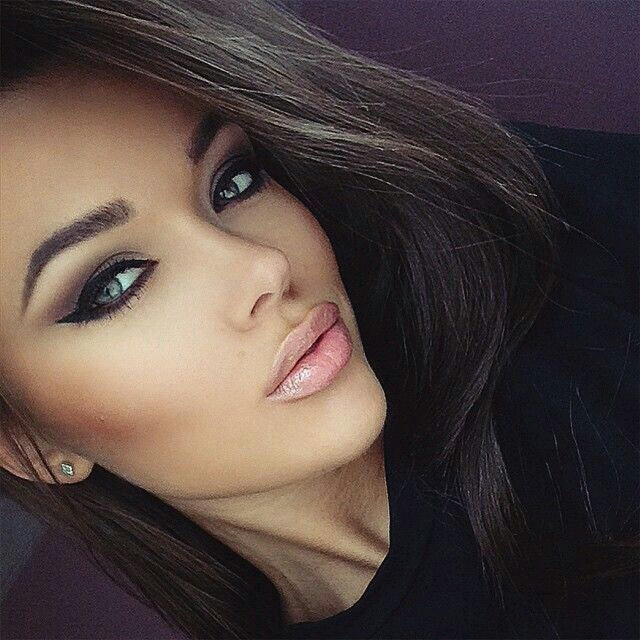beauty, eyes, flawless, girls, hair, lips, make up, maquillage