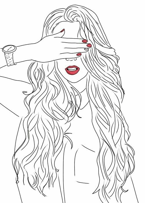 best, draw, drawing, girl, handwork, outline, photography