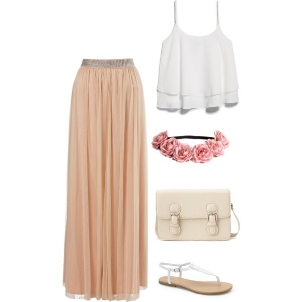 all star, beautiful, converse, flowers, girly, lovely, maxi skirts, ootd, outfit, polyvore, sandals, shirt, summer, summer 2016