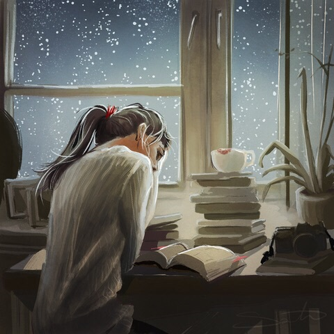 tumblr, hipster, girl, books, art