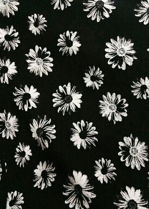 Background Flowers Wallpaper Black And White Image