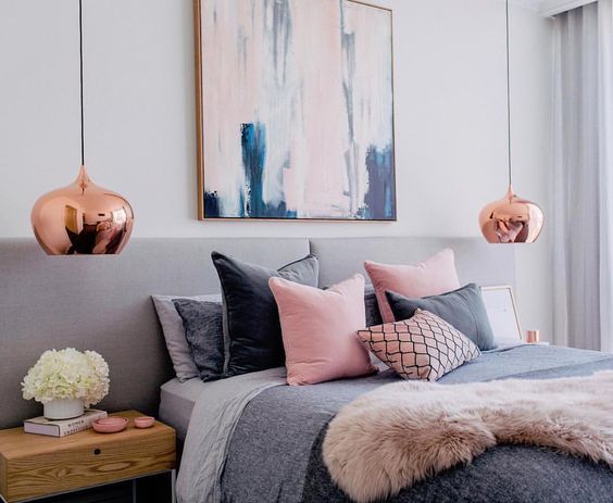 Pink blue bedroom image 4182618 by winterkiss on for Bedroom ideas rose gold