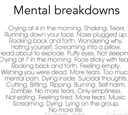 empty, mental illness, i hate myself, sad, quote - image ...