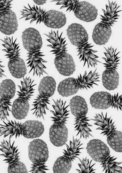 Black Fruits Pine Apple Swag White Image 4222673 By