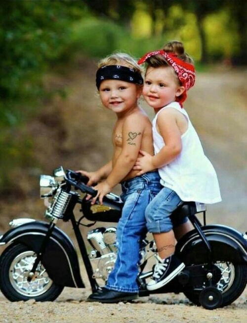 motorcycle, cute couple, boy and gitl, bad boy, cute kids