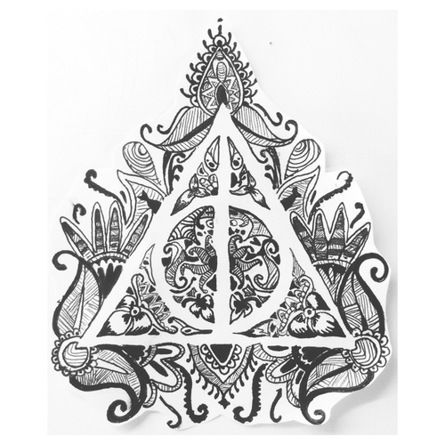 Drawings Black And White Harry Potter Tatto Image