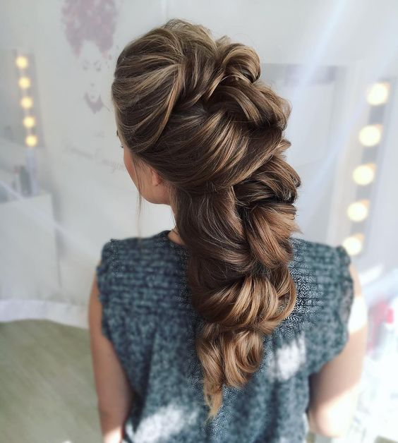 brunette, fashion, moda, girl, braided