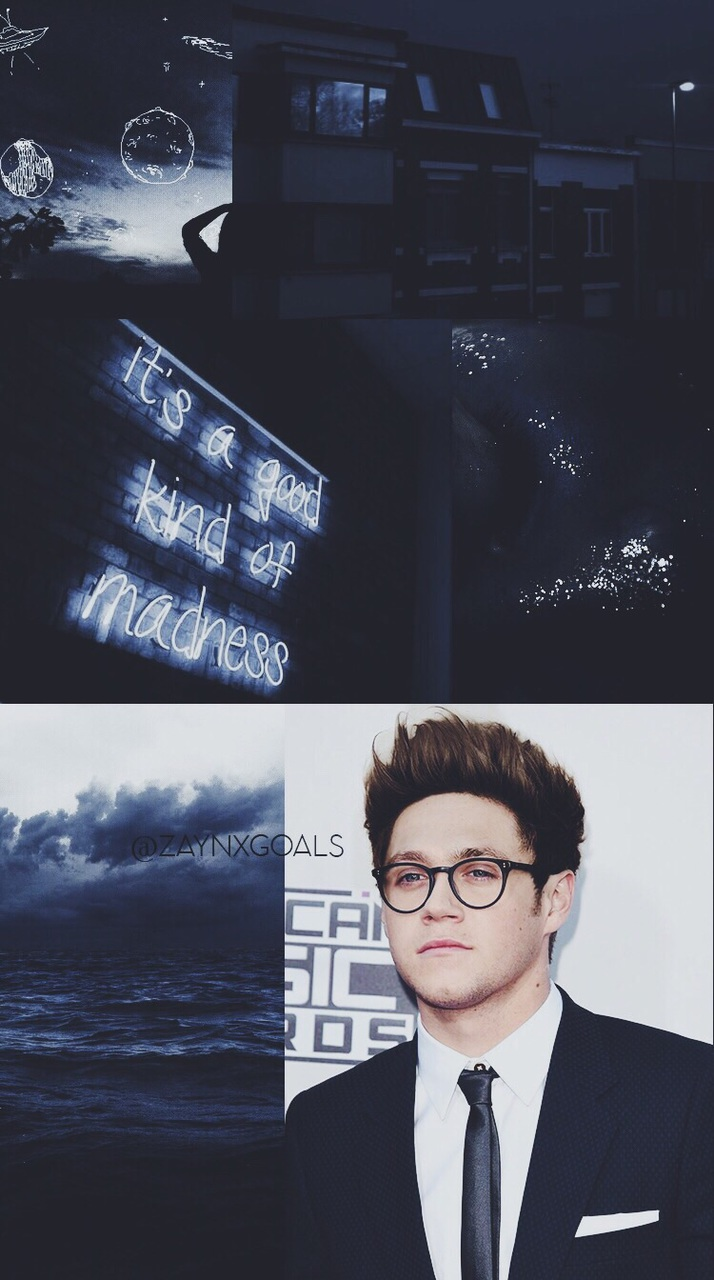 zayn malik, 1d, niall horan, homescreen, black