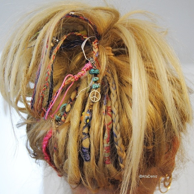 beads, bohemian, dreadlock and grunge