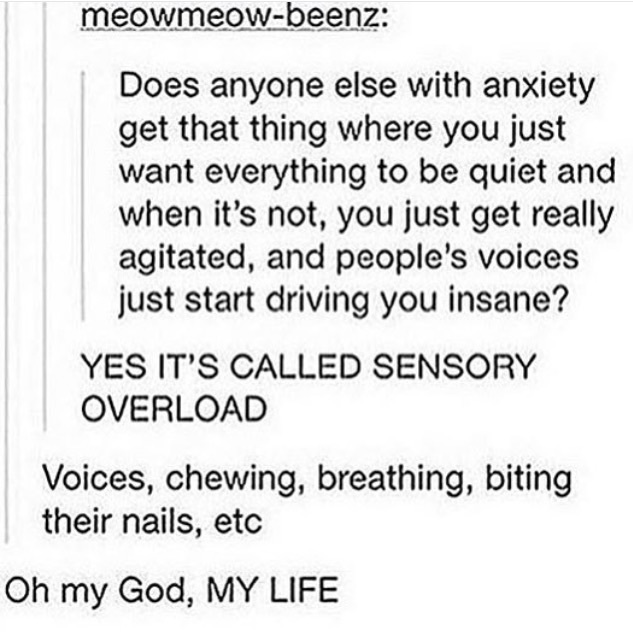 anxiety, tumblr, tumblr post and sensory overload