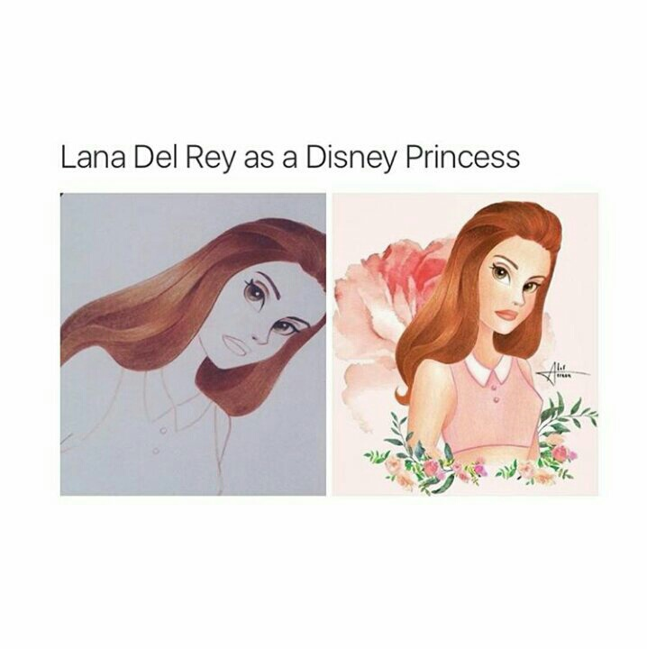 amazing, disney princess, drawing, lana del rey, tumblr