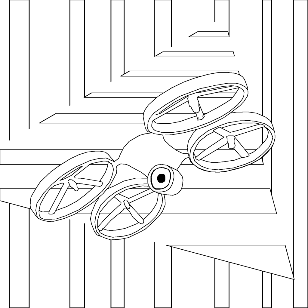 drone, coloring page, coloring for grown ups and coloring of flying drone