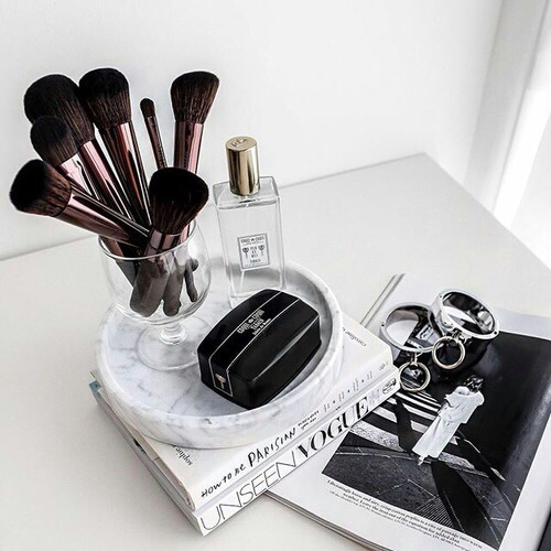 beauty, brushes, goals, makeup, perfume