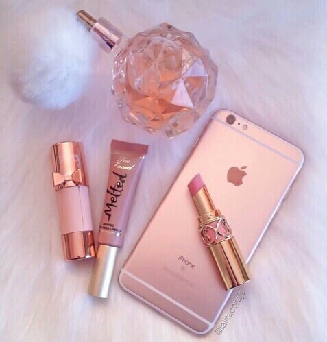 fragrance, iphone, iphone pink, lipstick, look