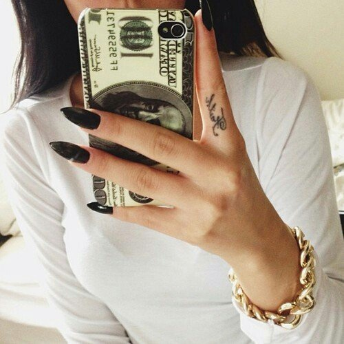 bracelet, case, claws, dollars, fashion