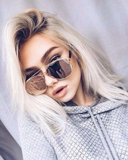 beautiful, fashion, girl, gray, hair
