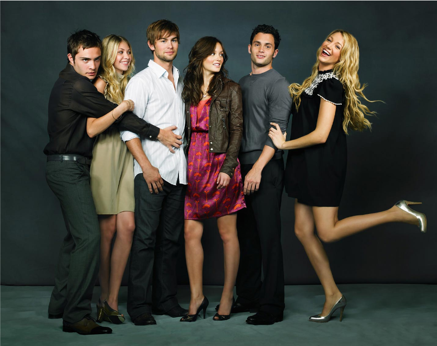 blake lively, cast, chace crawford, ed westwick, gossip girl