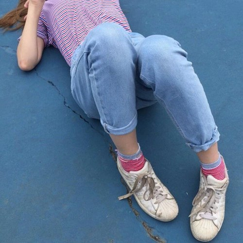 aesthetic, blue, girl, grunge, indie