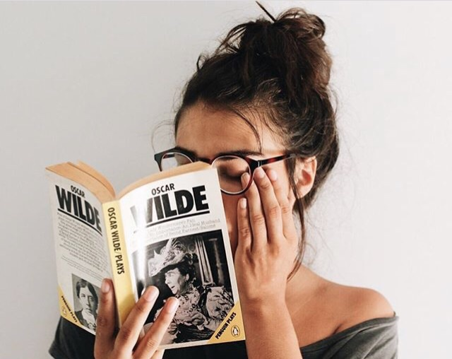 book, glasses, hipster, messy bun, read