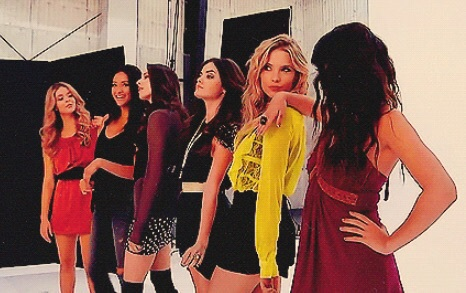 ashley benson, lucy hale, photoshoot, pretty little liars, sasha pieterse