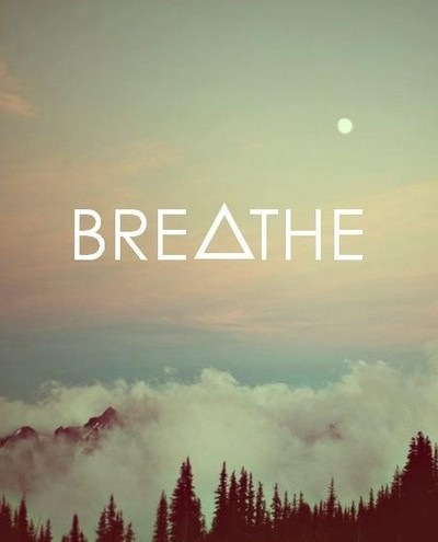 breathe, clouds, qoute, relax, sky