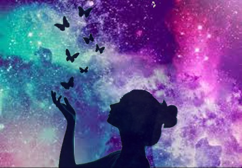 butterfly, edits, galaxy, girl, hipster