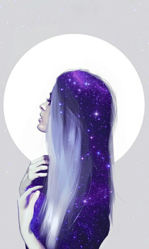colorful, galaxy, hair, purple, tumblr