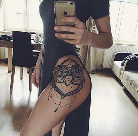 hip, mandala, pretty, tattoo