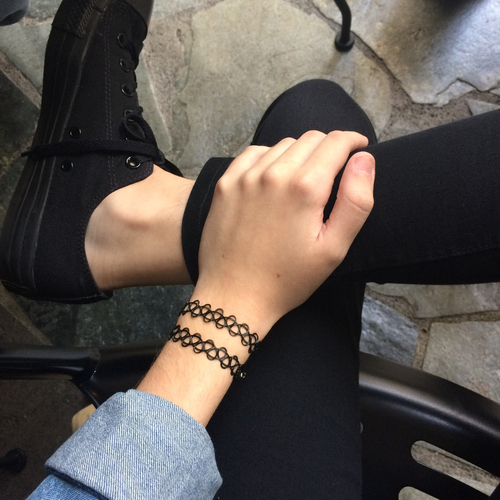 alternative, bad girl, black, bracelet, color