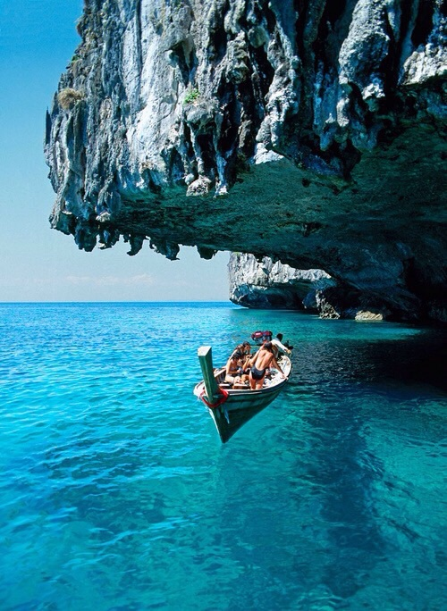 cave, holiday, sea, tropical, cliff face