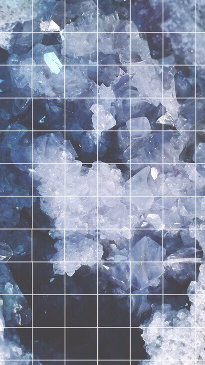 aesthetic background blue crystals diamonds image