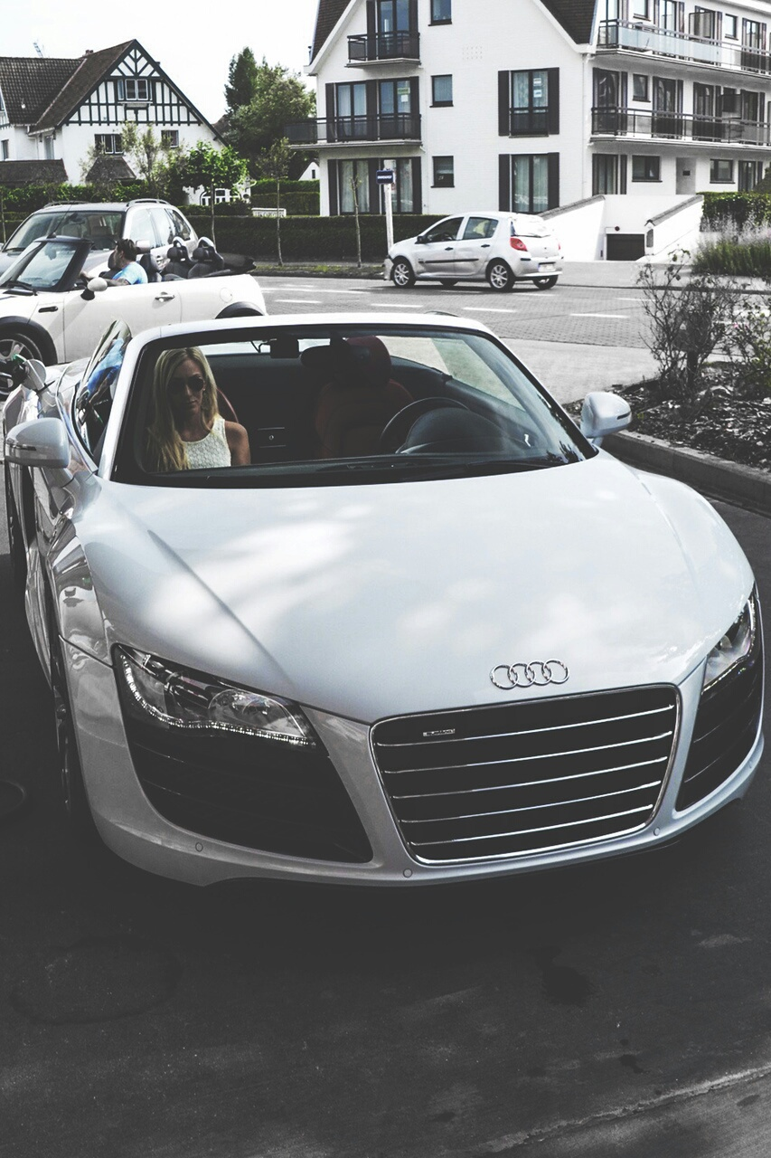 audi, black&white, car, luxe, voiture