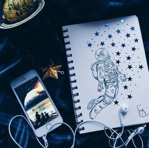 art, arte, astronaut, dibujos, drawing