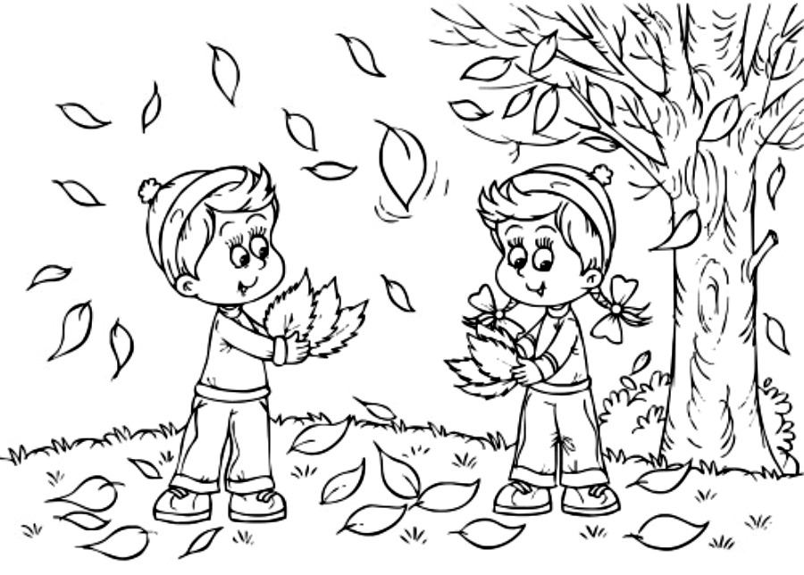 Printable September Fall Coloring Pages for Toddlers ...