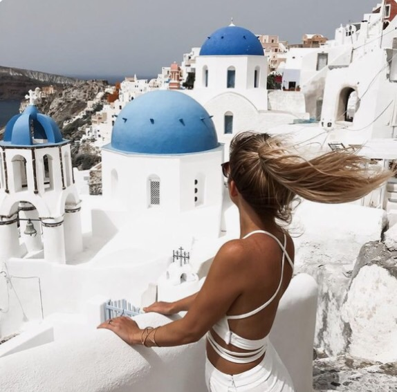 greece, santorini, tumblr
