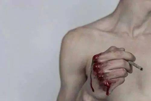 blood, bloody, bloody hands, boy, chest