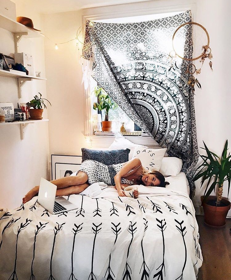 apple, bed, bedroom, boho, dream