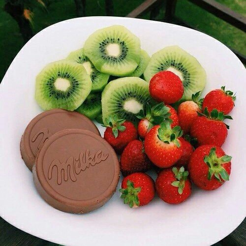 berries, chocolate, delicious, food, fruits